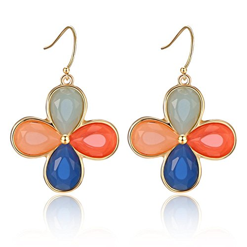 ORKST Creative resin four-color mosaic earrings