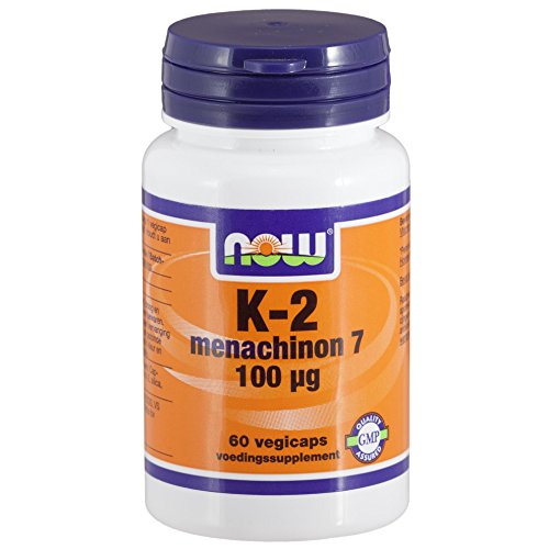 Vitamine K2 Menachinon 100 mcg (60 gél veggie) - Now Foods