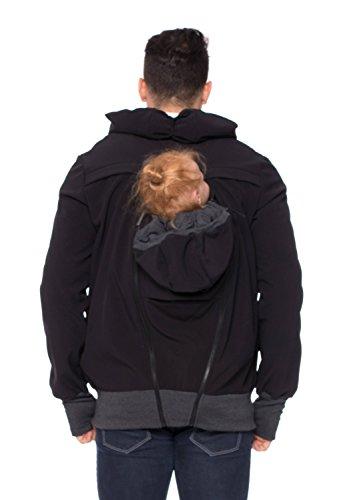 Milchshake - Sweat-Tragejacke für Männer mit Rücken- und Bauchtragefunktion Companion Schwarz