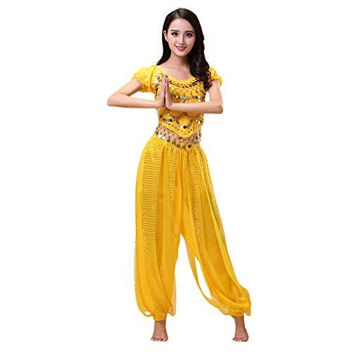 Haodasi Bauchtanz Kostüm für Damen Tanzen Top