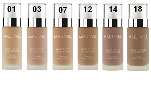 Malu Wilz Velvet Touch Foundation Number 03 Cream Make-Up 30 ml for Light Skin Types by Malu Wilz