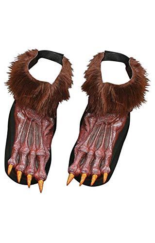 Braune Werwolf Füße