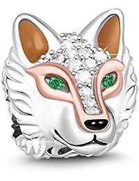 GNOCE - Colgante de plata de ley 925 con diseño de cabeza de animal