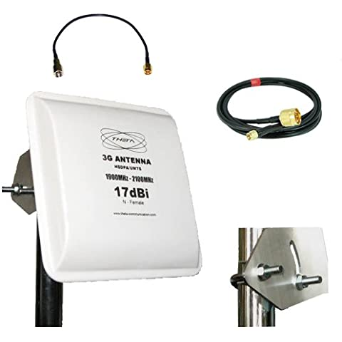 UMTS HSDPA Antenna Panel 17dBi GAIN 5Meter cable with SMA Connector for Huawei B970b B970 E961 etc