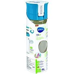 BRITA, Bouteille Filtrante Nomade, Fill&Go, 0.6L, 1 Disque Filtrant inclus - Bleu