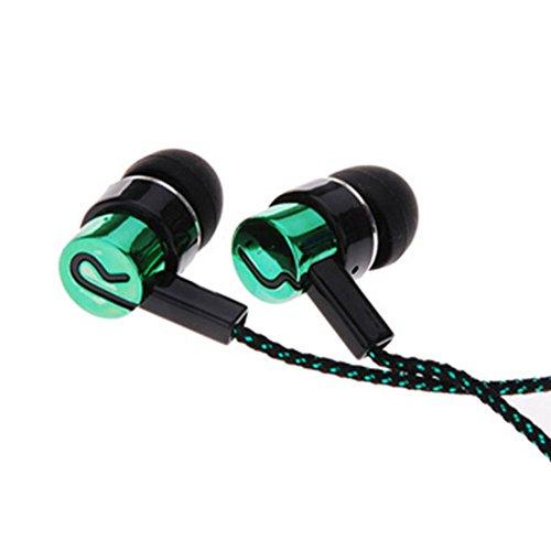rer mit Mikrofon, In-Ear Kopfhörer, Geräuschunterdrückung, 3,5mm, für iPhone, iPod, MP3-Player etc, grün ()