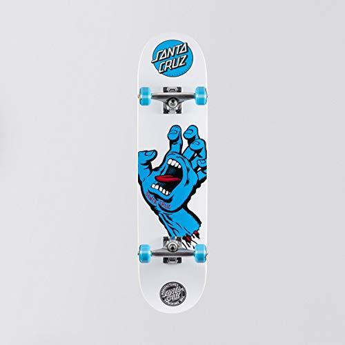 Skateboard Set Completo Santa Cruz Screaming Hand 7.75 Inches Bianco-Blu (Default , Bianco)