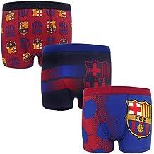 FC Barcelona - Pack de 3 calzoncillos oficiales de estilo bóxer - Para  niños - Con 86b7fd4a01b