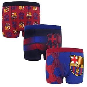 41hpY39LJyL. SS300  - FC Barcelona - Pack de 3 calzoncillos oficiales de estilo bóxer - Para niños - Con el escudo del club