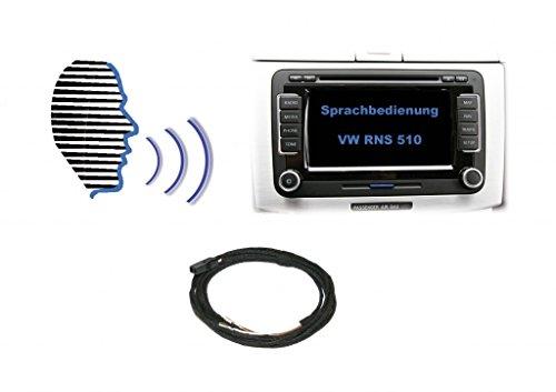 Kufatec Kit 37.115-1 retrofit per il controllo vocale con VW RNS 510 / Skoda Columbus con viva voce originale