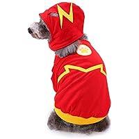 Ropa para Perros de Navidad,Traje Chaqueta Mono Ropa de Abrigo con Sombrero para Perros Signo del Rayo cálido cómodo para Cachorros Gato Perro Gusspower