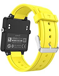MoKo Garmin Vivoactive / Vivoactive Acetate Sport Armband - Silikon Ersatz-Uhrenarmband Uhrenarmband Einstellbar Armband Replacement Wechselarmband watch band für Garmin Vivoactive / Vivoactive Acetate Sports GPS-Smartwatch, Gelb