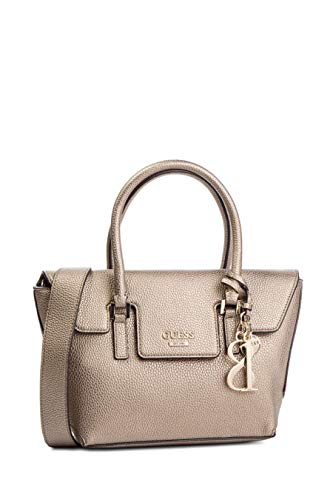 Guess WEST SIDE SMALL FLAP SATCHEL PEW PEWTER - Tu Pew