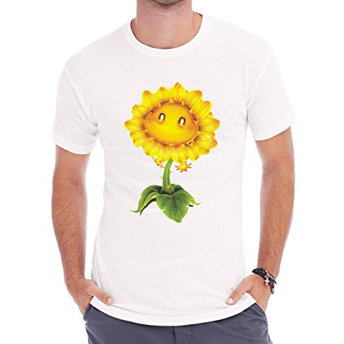 Flowers Nature Blossom Plant Sunflower Herren T-Shirt Weiß