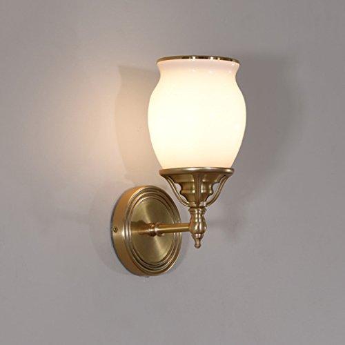 Applique Murale Postmodern Minimaliste Cuivre Mur Lampe Salon, Chambre à Coucher, Fond Lampe de Chevet Lampe de Mur (13 * 28cm)