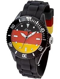 s.Oliver Fußball WM Damen-Armbanduhr Deutschland Analog Quarz Silikon SO-2891-PQ