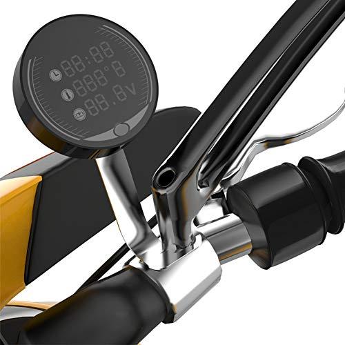Termometro per moto, 3 in 1, temperatura digitale + orologio + voltmetro, impermeabile, DC 9V-24V, display a LED per barche, moto e auto, nero
