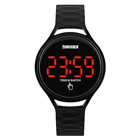 YAHE SKMEI Unisexe 30M imperméable à l'air extérieur Touch Sports Watch For Kids Digital Wirstwatch (Noir)