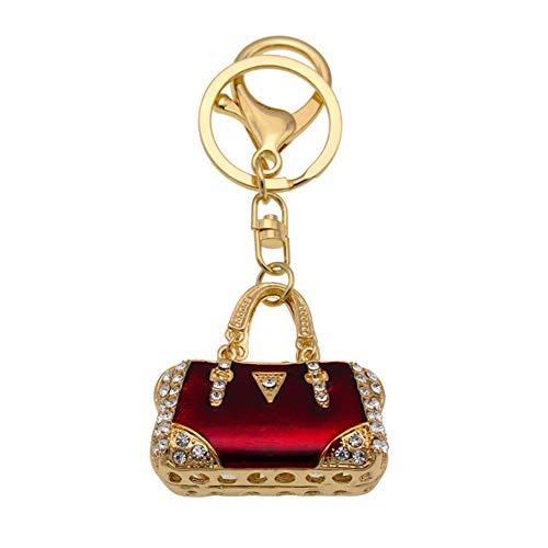 Strass Designer-handtasche (Youyun Strass Handtaschen-Form Schlüsselanhänger mit Karabinerverschluss für Taschen-Ornamente Souvenir Geschenk)