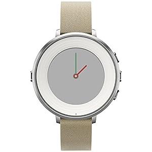 "Pebble Time Round - Smartwatch (14 mm, 1.25"", Bluetooth, Li-ion), color plateado/stone"