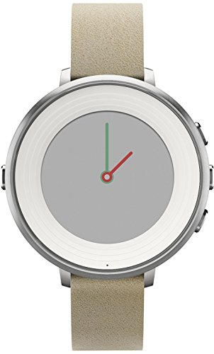 Pebble Time Round - Color plateado-stone