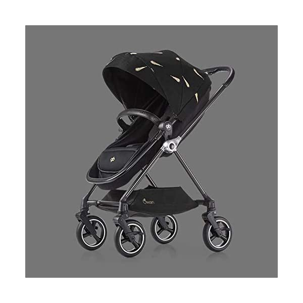 XUE Stroller, 360 Rotating 6kg Four-Wheel Steering Carbon Fiber Frame With 5-Point Safety Harness Multi-Position Reclining Seat Large Storage Basket XUE ∵ Wipeable and washable design for easier cleaning. ∵ Convertible high chair becomes booster and toddler seat. ∵ Keeps little ones secure with 3-point and 5-point harnesses. 1