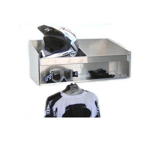 Pit Posse 448Schrank Helm Bay Doppel-Passepartout Aluminium Regal silber Aluminium beiliegenden Race Trailer Shop Garage Lagerung Organizer von Pit Posse (Aluminium-trailer-schrank)