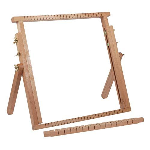 Milward - Telar extensible (madera de haya, 40 x 40-61 cm), Madera, 40x40-61cm