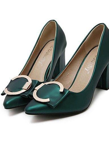 GS~LY Da donna-Tacchi-Tempo libero-Tacchi-Basso-Finta pelle-Nero / Verde / Grigio green-us8 / eu39 / uk6 / cn39