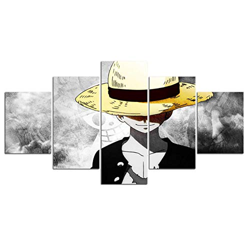 Gbksmm 5 Cuadro Lienzo One Piece Monkey Anime Carteles