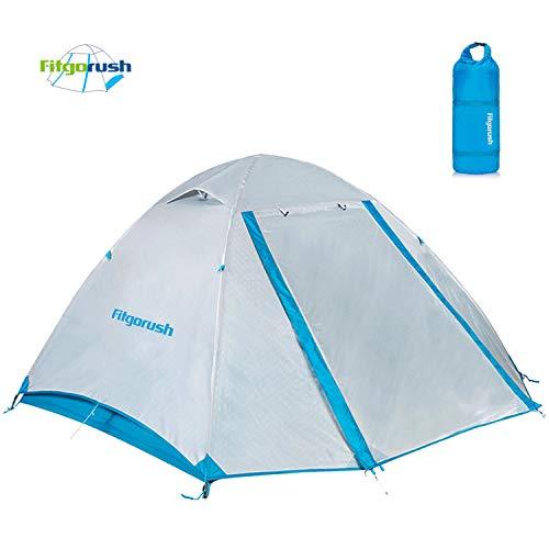 Fitgorush tenda da campeggio 2 posti persone ultraleggera impermeabile, tende campeggio con veranda portabile, tenda igloo facile da montare da escrusioni, montagna, mare, viaggi