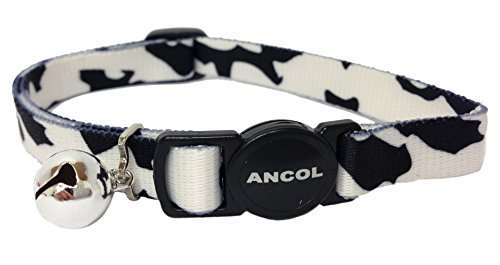 A Camouflage Cat Collar with Bell and Snap Clip, Available in 4 Colours, (Black & White)