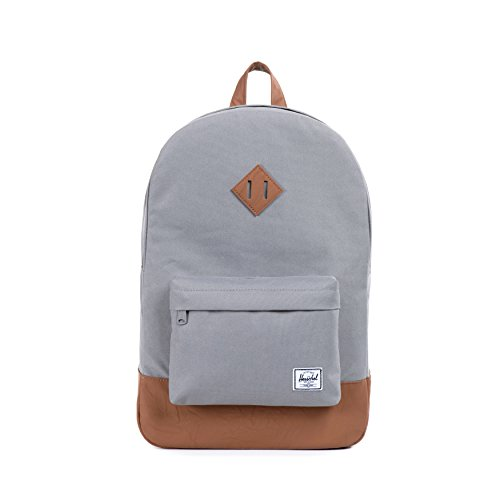 Herschel 10007-00061  Heritage Backpack Rucksack, 1 Liter, Grau/Tan (Tasche Heritage Notebook)