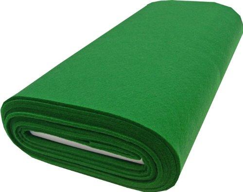 Bastelfilz Taschenfilz, Filz Stoff Meterware ab 0,5 m (grün)