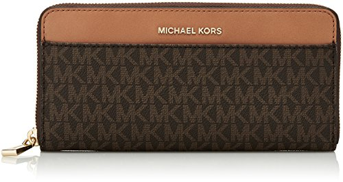 Michael Kors Damen Money Pieces Geldbörse, Braun (Brown), 2.5x10.1x20.3 centimeters -