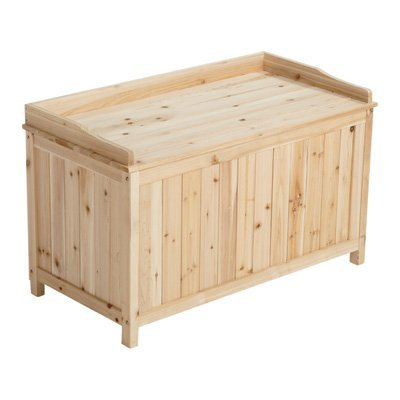 Model Deck (Fir Deck Box - 42 Gallon Capacity, Model# WT-SB214 by Stonegate)