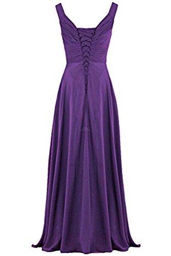 Gorgeous Bride Modisch Träger A-Linie Lang Tanzkleider Partykleider 2017 Damen Abendkleider Lang Cocktailkleider Ballkleider Rot