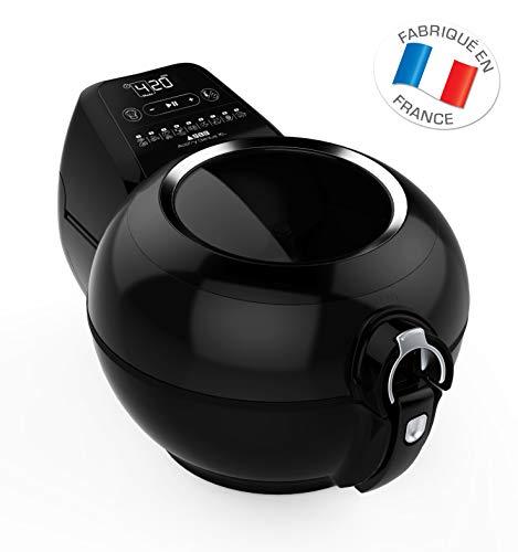 Seb AH960800 Friteuse sans huile Cuve amovible Cuisine saine Actifry Genius XL 8 personnes - 1,7 kg - Noire