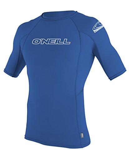 O 'Neill Herren Neoprenanzug Basic Skins Short Sleeve Crew, Herren, königsblau (Rash Neoprenanzüge Crew Guard Skins)