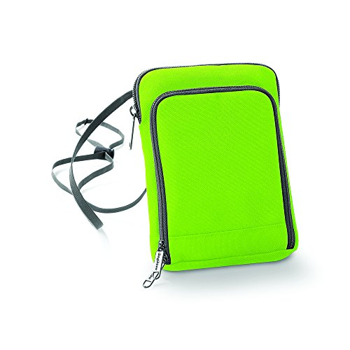 BagBase Travel wallet Lime Green/ Graphite Grey -