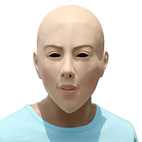 HBWJSH Latex DIY Maskerade Requisiten kahl Schönheit Maske -