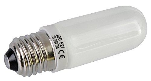 JDD 75W Halogen Einstelllicht   E27Passform   Ersatz-Glühbirne Studio Flash Light Strobe Monolight -