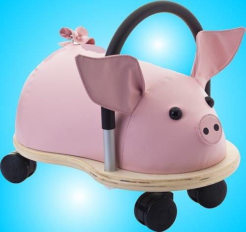 Wheely Bug 4260139621194 Ferkel, kleines Holzschwein auf Rollen mit Griff, Ultimatives Cooles Rutschauto, Spaß Car-Auto für jedes Kind - Das Ultimative Spa