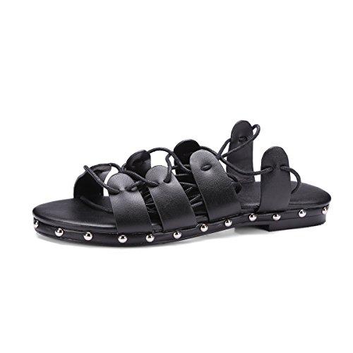 YFF Nuove donne sandali flat sandali ciabattine donna casual scarpe estive donna di grandi dimensioni 34-43 sandals