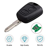 2 Buttons Remote Control Car Key Blade Remote Key Fob Controller For PEUGEOT 206 433MHZ With PCF7961 Transponder Chip