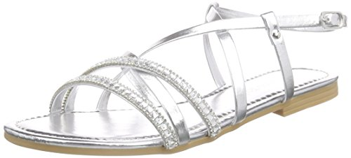 Marco Tozzi 28187, Sandales ouvertes femme Argent - Silber (SILVER COMB 948)