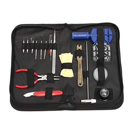 Noradtjcca 19 Teile/Satz Uhr Werkzeug Anzug für Uhren Batterie Zubehör Uhrmacher Uhrmacher Reparatur Kit Pin Remover Tool (Uhrenbatterie-remover-werkzeug)