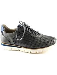d0f34325ceaa8 Lion 20705 Perla Grigio Scarpe Uomo Lacci Sneakers Intreccio Pelle