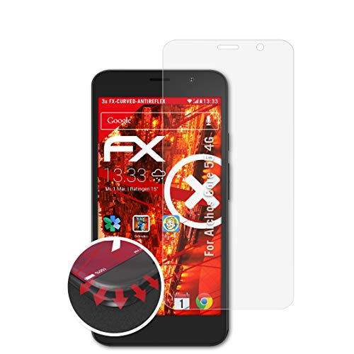 atFolix Schutzfolie passend für Archos Core 55 4G Folie, entspiegelnde & Flexible FX Bildschirmschutzfolie (3X)