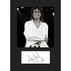 Michael Jackson 1 | Signierter Fotodruck | A5 Größe passend für 6×8 Zoll Rahmen | Maschinenschnitt | Fotoanzeige | Geschenk Sammlerstück